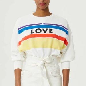 Rebecca Minkoff Love Stripe Sweatshirt